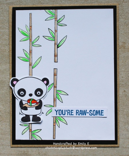 Awesome Panda card
