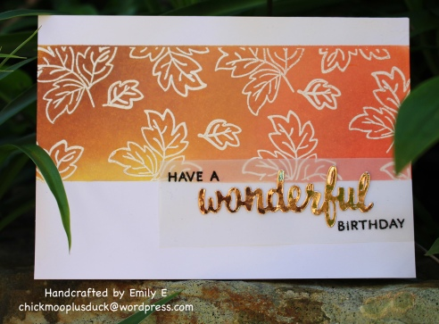 Wonderful leaves card