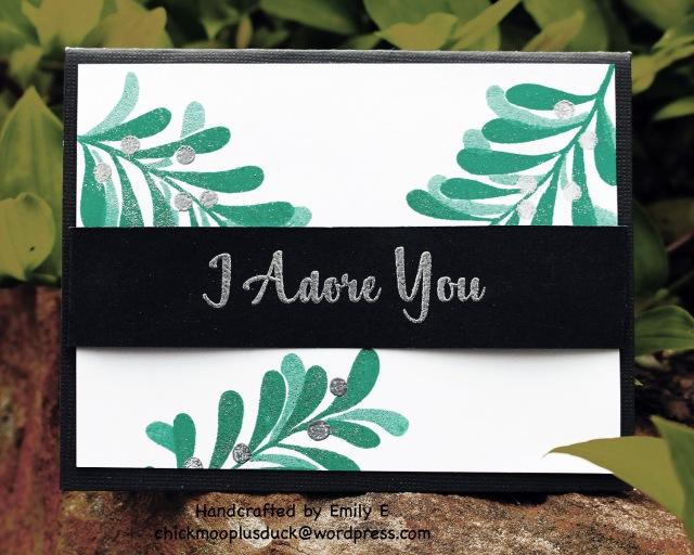 I adore you 2 card