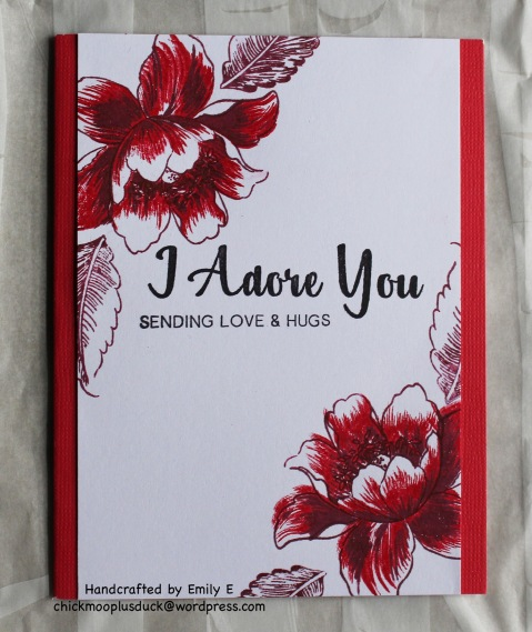 Red Flowers card